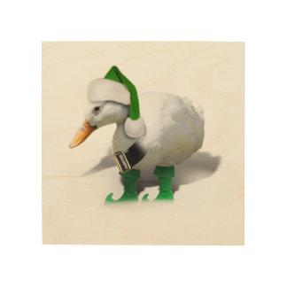 Pato del duende del navidad - el ayudante de Santa Cuadros De Madera