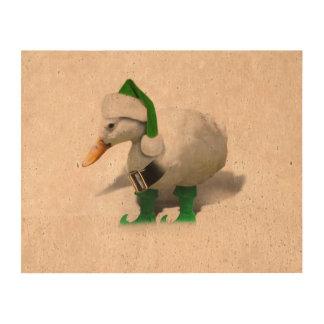 Pato del duende del navidad - el ayudante de Santa Papel De Corcho Para Fotos
