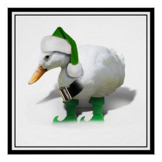Pato del duende del navidad - el ayudante de Santa