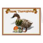 Pato del indio de la acción de gracias tarjeta de felicitación