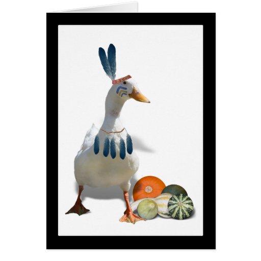 Pato del indio de la acción de gracias felicitacion