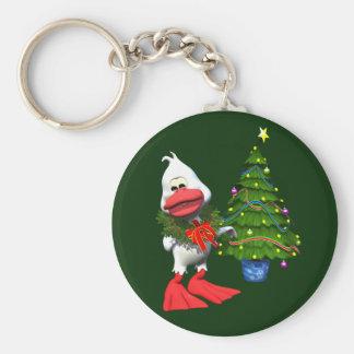 Pato del navidad llaveros personalizados