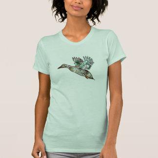 Pato del pato silvestre del arte de Nouveau Camisetas