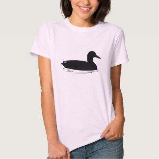 Pato del pato silvestre en silueta remera