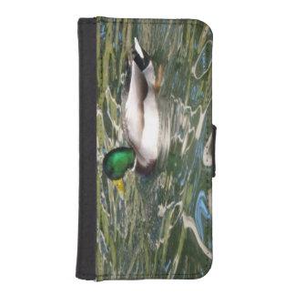 Pato del pato silvestre funda tipo billetera para iPhone 5