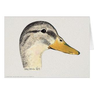 Pato del pato silvestre (gallina), acuarela tarjeta de felicitación