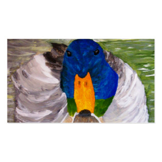 Pato del pato silvestre tarjetas de visita