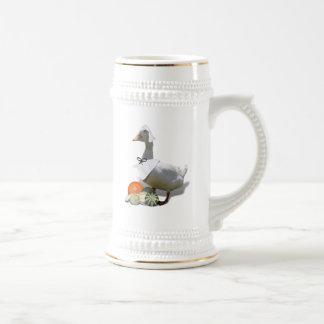 Pato del peregrino de la acción de gracias taza