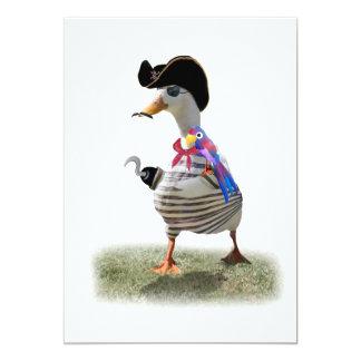 Pato del pirata invitación 12,7 x 17,8 cm