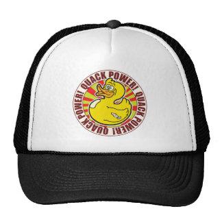 Pato del poder del curandero gorras