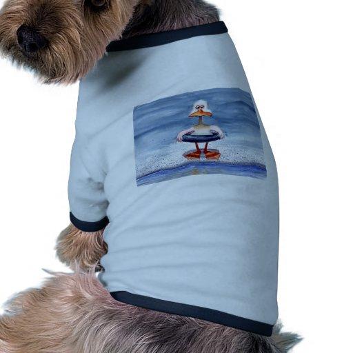 Pato del pollo camiseta con mangas para perro