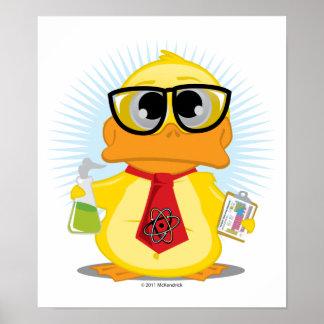Pato del profesor de ciencias póster