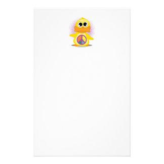 Pato del signo de la paz  papeleria de diseño