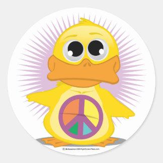 Pato del signo de la paz pegatinas redondas
