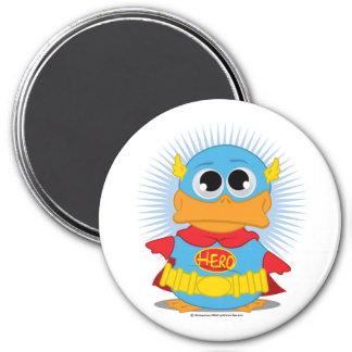 Pato del super héroe imán redondo 7 cm