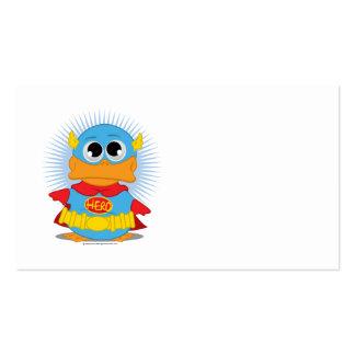 Pato del super héroe tarjetas de visita