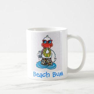 Pato del vago de la playa taza clásica