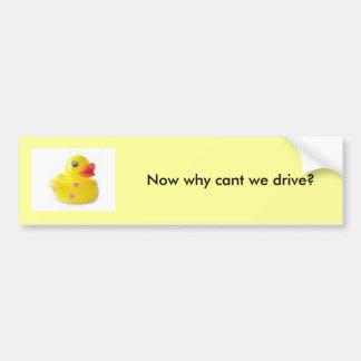 Pato descarado pegatina para auto