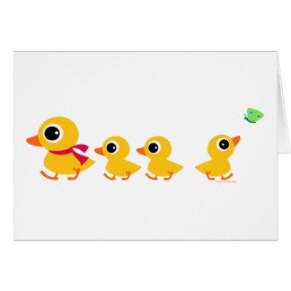 Pato distraído tarjeta de felicitación