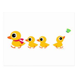 Pato distraído postales