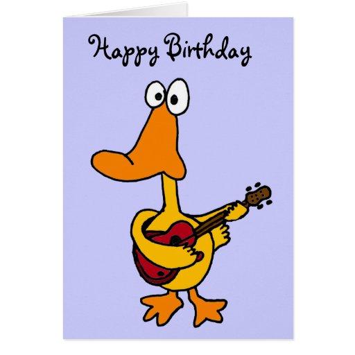 Pato divertido AW con la tarjeta de cumpleaños de