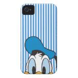 Pato Donald del peekaboo iPhone 4 Fundas