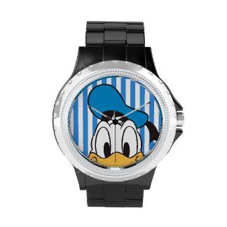 Pato Donald del peekaboo Relojes