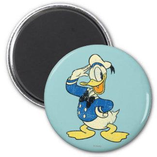 Pato Donald del vintage Imán Redondo 5 Cm