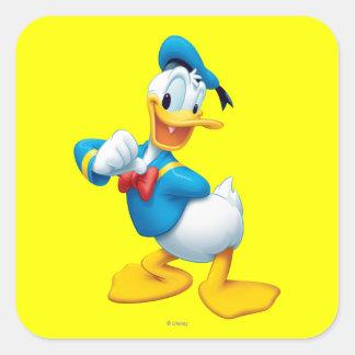 Pato Donald el | que presenta Pegatina Cuadrada
