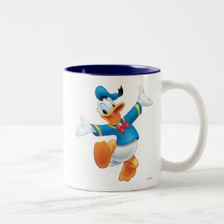 Pato Donald el | que salta Taza De Dos Tonos