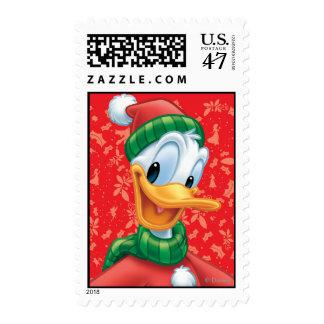 Pato Donald en ropa del invierno Sello