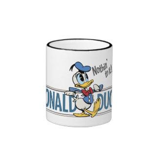 ¡Pato Donald - nada a él! Taza A Dos Colores