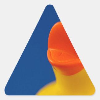 Pato Ducky abstracto Pegatina Triangular