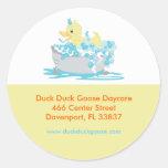 Pato Ducky en etiquetas de dirección modificadas p