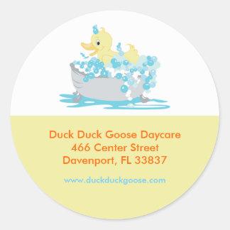 Pato Ducky en etiquetas de dirección modificadas Etiquetas Redondas