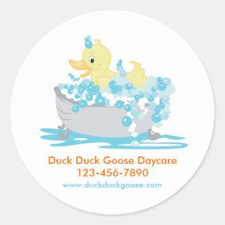 Pato Ducky en pegatinas modificados para Etiqueta Redonda