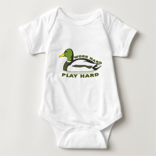 Pato duro del pato silvestre del juego duro del body para bebé