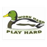 Pato duro del pato silvestre del juego duro del tr