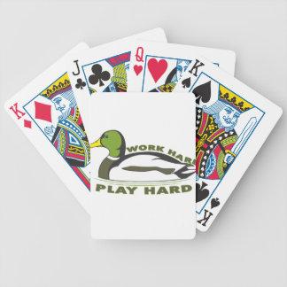 Pato duro del pato silvestre del juego duro del tr baraja de cartas