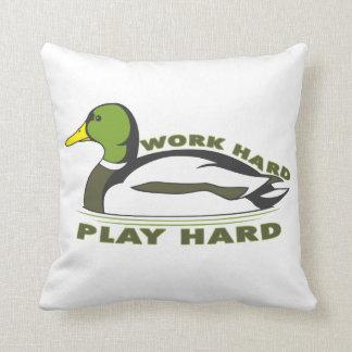 Pato duro del pato silvestre del juego duro del tr almohadas