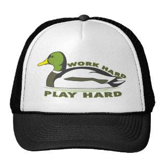 Pato duro del pato silvestre del juego duro del tr gorra