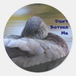 Pato el dormir etiquetas redondas