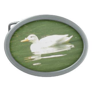 Pato en la hebilla del cinturón del agua hebilla de cinturon oval