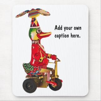Pato en un Trike Alfombrilla De Ratón