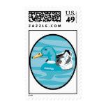 Pato en una charca sellos