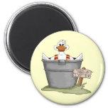 Pato en una tina imán de frigorífico