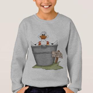 Pato en una tina sudadera