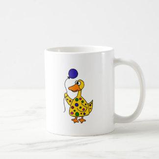 Pato enrrollado con el globo taza