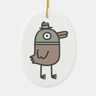 Pato extraño adorno ovalado de cerámica