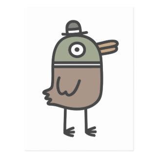Pato extraño postal